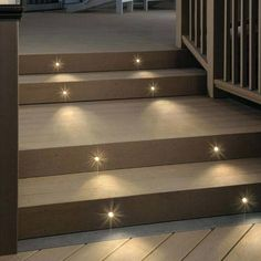 Recessed LED Riser Light by Deckorators - DecksDirect Outdoor Stair Lighting, Backyard Lighting, Patio Stairs, Outdoor Stairs, Brick Steps, Concrete Steps, Stairs Light Design, Deck Step Lights, Light Brick