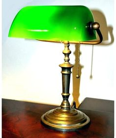 What lies on one' work desk speaks so much about one's persona and as nicely provides an outward int. Bankers Desk Lamp, Best Desk Lamp, Cove Lighting, Large Lamps, Street Lamp, Unique Lamps, Bright, Glass Shades, Floor Lamp
