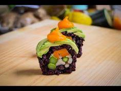 Vegan Sushi Roll Recipe - Amazing Vegan Food Recipe...replace the mushrooms with cucumber and perfect! Looks delicious!