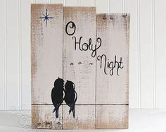 Silent Night Sign Holiday Sign Wood by LindaFehlenGallery on Etsy