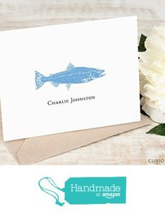 FISH FOLDED - Personalized Stationery Set - Vintage Nautical Fishing Note Cards and Envelopes, Professional Classic Custom Stationary Notecards, Men or Outdoorsman from Curio Press https://www.amazon.com/dp/B01MXLEG2Q/ref=hnd_sw_r_pi_dp_lYnryb9MF310S #handmadeatamazon