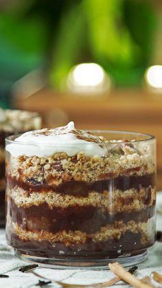 Heladas o no, estas copas ¡son una delicia! Crockpot Dessert Recipes, Fall Dessert Recipes, Jello Recipes, Cookie Recipes, Winter Desserts, Thanksgiving Desserts, Holiday Desserts, Nutella Snacks, Punch Bowl Cake