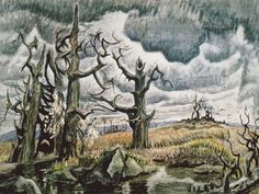 "Charles Burchfield - when I quit my job in 2002 I took a trip down to Austin to see my friend, Tye Harvey. I stopped at as many museums as possible on the way, including Mason City, Cedar Rapids, Kansas City and as least two museums in Fort Worth and one in Austin. Burchfield kept showing up as an artist that I would see from across the room and say, ""Who is that?"""