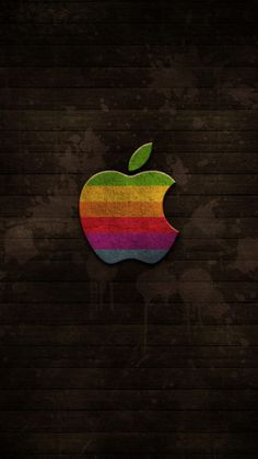 ↑↑TAP AND GET THE FREE APP! Abstract Apple Dark Wooden Cool Brown HD iPhone 6 Wallpaper