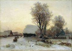 Кондратенко Гавриил Павлович (1854-1924): Зимний вечер Холст масло 45 x 64 Иркутск