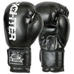 BeSmart Boxing Gloves Bag mens Gym Kick Pads MMA Mitts Mu…