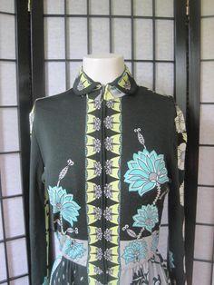 Vintage 1970s Paganne Gene Berk Maxi Dress Long Gown by girlgal6, $120.00