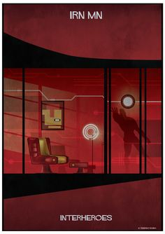 Iron man INTERHEROES - federico babina Iron Man, Black Panther, Ruby Red, Superheroes, Arrow, Poster, Architecture, Graphic Design, Superhero