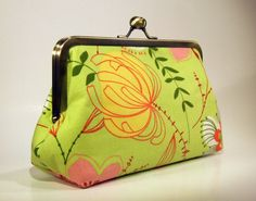 Items similar to Cotton Clutch - Spring Apple Green Floral on Etsy Floral Clutches, Coin Purse, Easter, Apple, Wallet, Purses, My Style, Spring, Green
