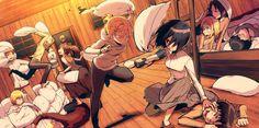 Anime 2300x1144 anime Shingeki no Kyojin Eren Jeager Mikasa Ackerman Armin Arlert Blouse Sasha Ymir Renz Christa Leonheart Annie
