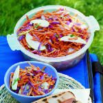 Carrot, Cabbage, and Apple Slaw with Cumin Lime Dressing Recipe   MyRecipes.com