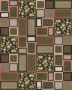 Box of Chocolates Quilt Pattern - A great quilt pattern for using any Fabric Collection you don't want to cut too small! http://www.victorianaquiltdesigns.com/VictorianaQuilters/PatternPage/BoxofChocolates/BoxofChocolates.htm #quiliting