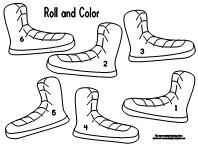 roll and color pete the cat math - Pete Cat Shoes Coloring Pages
