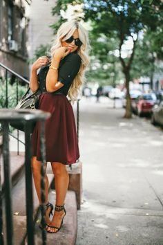 Love the black and burgunday for fall