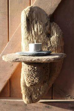 Driftwood Candle holder,Driftwood Tea light Holder,Drift Wood Tea light Sconce £42.00