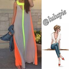 """Bohemian Color Block Maxi Dress Bohemian Color Block Maxi Dress   Measurements (approx) Bust: 35.43"""" Waist: 42.91"""" Length: 54.72"""" Shoulder Width: 12.20""""   100% Polyester- comes in manufacturing packaging Boutique Dresses Maxi"""