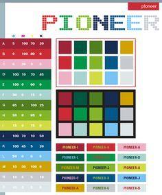 Color Schemes | Pioneer color schemes, color combinations, color palettes for print ...