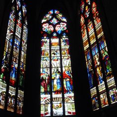 Stained glass at the Auch Cathedral in France