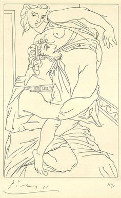 Rare and stunning 1934 etchings for a risqué Greek comedy. Pablo Picasso