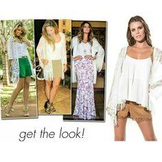 Kimono em Renda w/ Franja | Carlota Costa ♡    ••》Whatsapp 43 9148-2241  ☎  43 3254-5125.   Rua Rio Grande do Norte, 19 Centro - Cambé-Pr  #venhaseapaixonar #fashionistando #carolcamilamodas #news #Verão16 #musthave #style #fashion #trend #desejododia #instafashion #kimono  #inspiração #trend #euqueroo #lookoftheday #lifestyle