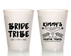 New to SipHipHooray on Etsy: Bride Tribe Bachelorette Bride Tribe Party Cups Bachelorette Party Favors Frosted Party Cups Party Favors Bridal Shower Favor Cup 1373 (75.00 USD)