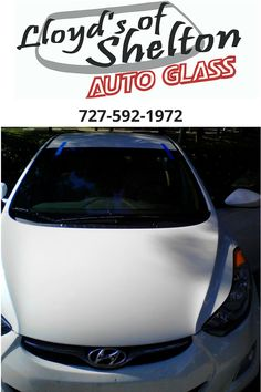 Hyundai Elantra with a brand new windshield installed by our mobile auto glass service. We are ready to help you return safely to the road!  https://lloydsofshelton.com/blog/auto-glass-repair-clearwater-fl/  | #AutoGlassRepair   #Clearwater