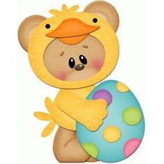 Silhouette Design Store: bear in easter chick costume pnc