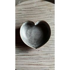 stormy grey heart bowl 4 inches ring holder ($18) via Polyvore featuring home, home decor, jewelry storage, gray bowl, heart home decor, handmade home decor, gray home decor and heart bowl