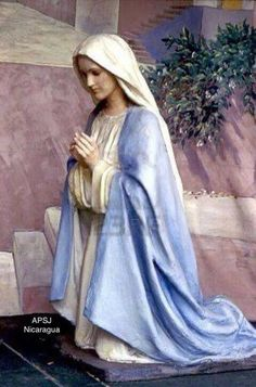 Photo about Statue of Mary kneeling in prayer. Image of mary, nativity, mother - 3564150 Mother Mary Images, Images Of Mary, Madonna, Kneeling In Prayer, Hail Holy Queen, Virgin Mary Statue, Jesus Christus, Queen Of Heaven, Mama Mary