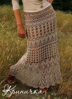 Saia Longa de Crochet