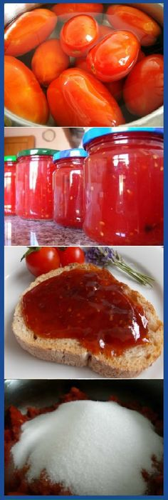 Mermelada de tomate casera la mas Dulce y facil del mundo! #mermelada #dulces #tomate #tomato #tomatoes #cheesecake #postres #dulces #tips #cake #pan #panfrances #panettone #panes #pantone #pan #recetas #recipe #casero #torta #tartas #pastel #nestlecocina #bizcocho #bizcochuelo #tasty #cocina #chocolate Si te gusta dinos HOLA y dale a Me Gusta MIREN … Dessert Drinks, Paleo Dessert, Jam Recipes, Sweet Recipes, Bien Tasty, Arabian Food, Jam And Jelly, Appetizer Salads, Ice Cream Desserts
