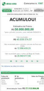 Mega-Sena 1587 - resultado do concurso de hoje, 02/04/2013