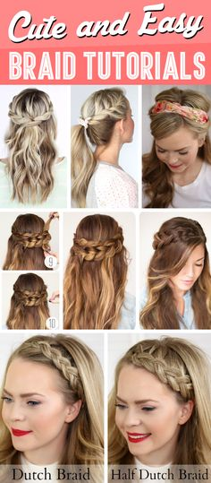 Awesome Pigtail Hair Tutorials And Hair On Pinterest Short Hairstyles Gunalazisus