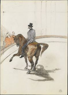 Henri de Toulouse-Lautrec (French, 1864-1901). At the Circus: The Spanish Walk…
