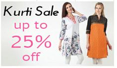 Kurti Sale on Hytrend.com | Save upto 25% on colourful and designer Kurtis for Women.There is a style to suit each of you! Get yours now!