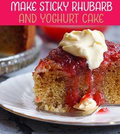 Rhubarb Yoghurt Cake with Sticky Rhubarb Sauce - Learn Cake Decorating Online