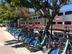 On Aug. 29 at noon the Bay Area Bike Share program went live. - #Caltrain is proud to be a sponsor of this innovative and eco-friendly program. @Bay Area Bike Share