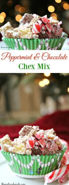 Peppermint & Chocolate Chex Mix is the perfect recipe to create a family tradition with this year.