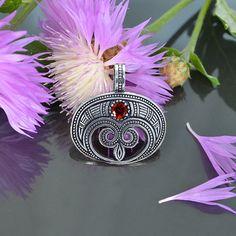 Sterling silver Lunula pendant . Moon Crescent Necklace pendant jewelry. LUNITSA. Slavic pendant Moon, sterling silver. Feminine charm