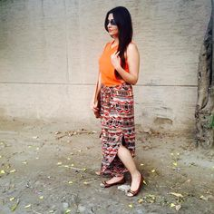 My Style Diary • Today's #ootd  These cotton wrap pants with side...