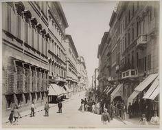 C 1890's Photo Italy Rome Via Del Corso   eBay
