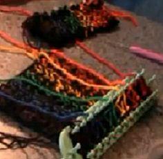 Loom Knitting Soild Stripes