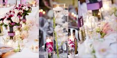 Centerpieces and bridesmaids bouquets
