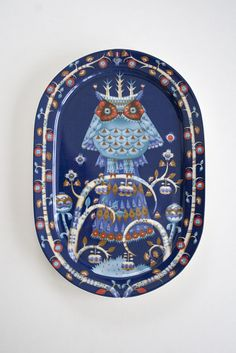 want for my wall!  Iittala Finland Taika oval serving plate blue, 41 cm by Klaus Haapaniemi