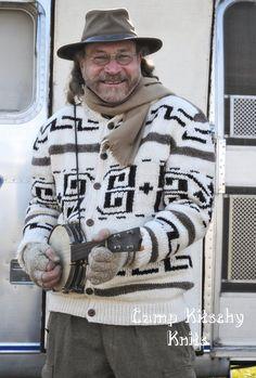 EN el TAMAÑO 50 Gran Lebowski El cardigan Amigo suéter Cowichan hombres del estilo con los botones - Pendleton Estilo - Listo para enviar