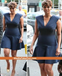 PEOPeople On INSTAGRAM Are So MEAN . . . They're Saying That TYRA BANKS Looked FAT Yesterday . . . But We Think She Looked GREAT!! (TEAM THICK CHICK) Tyra Banks, Great Team, Fine Wine, Looks Great, Peplum Dress, Curvy, Fat, Hollywood, Celebs