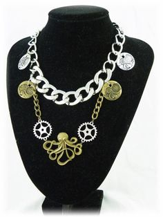 Steampunk statement necklace  by BlossomHandcrafted