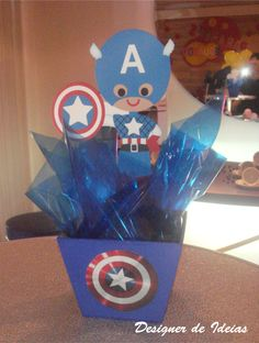 festa capitão america - Pesquisa Google Superhero Baby Shower, Superhero Party, 4th Birthday Parties, 3rd Birthday, Captain America Party, Avengers Birthday, Baby Party, Birthday Candles, First Birthdays