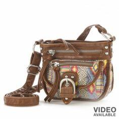 Mudd Handbags At Kohl S The Full Line Of Including This Anna Mixed Media Mini Crossbody Bag