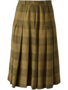 Jean Louis Scherrer Vintage Check Skirt - A.n.g.e.l.o Vintage - Farfetch.com